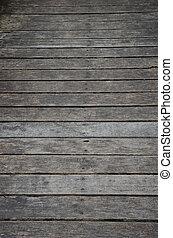 Wooden panel floor.