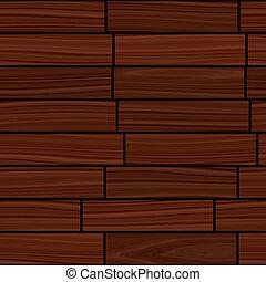 Wooden parquet flooring