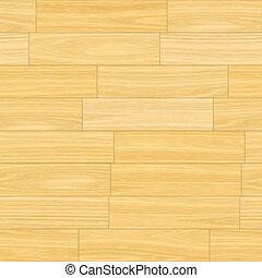 Wooden Parquet Flooring in Light Cream Brown Colors