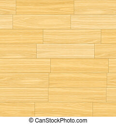 Wooden Parquet Flooring in Light Cream Brown Colors