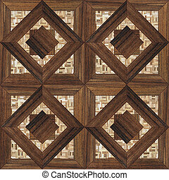 wooden parquet - seamless background with a patterned wooden...