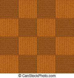 Wooden parquet - Wooden square brown parquet, seamless...