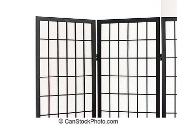 Wooden Partition for light barriers (Japanese style)