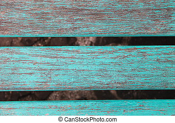 Wooden Patina Panel In Turquoise