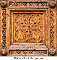 Wooden pattern - Symbolic patterns carved in wood