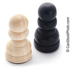 Wooden pawn for chess game
