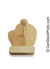 Wooden peg to hang oven glove