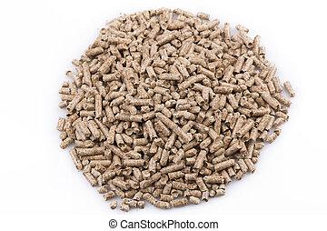 Wooden pellets - Close up image of a wooden pellets