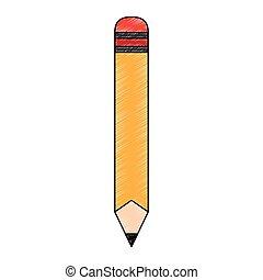 Wooden pencil cartoon scribble - Wooden pencil cartoon...