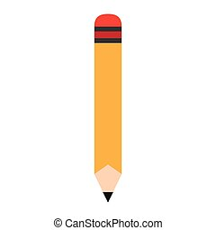 Wooden pencil cartoon vector illustration graphic design