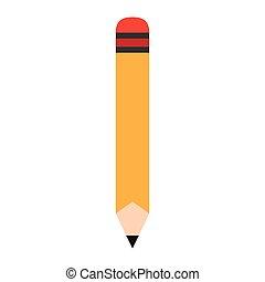 Wooden pencil cartoon vector illustration graphic design