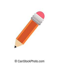 Wooden pencil isolated