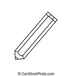 Wooden pencil isolated icon vector illustration graphic...