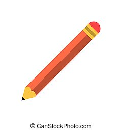 Wooden pencil isolated symbol vector illustration graphic...