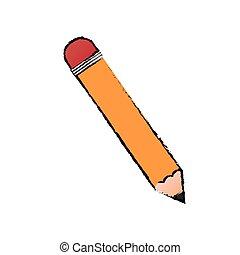 Wooden pencil school icon vector illustration graphic design