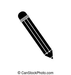 Wooden pencil school icon vector illustration graphic design