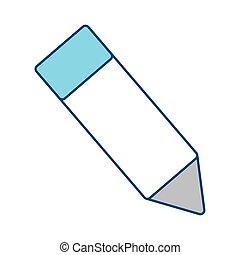 Wooden pencil symbol icon vector illustration graphic design