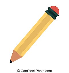 wooden pencil symbol isolated vector illustration graphic...