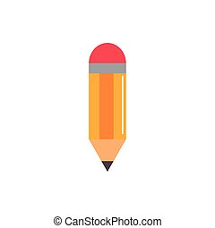wooden pencil write education school icon design