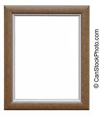 Wooden photo frame brown