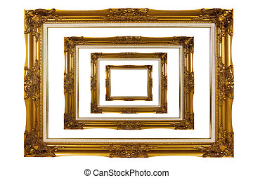 wooden photo frame isolate