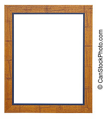 Wooden photo frame orange and blue
