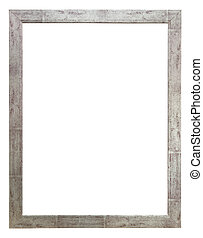 Wooden photo frame rustic silver