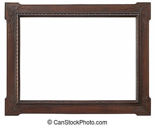 wooden photo frame vintage