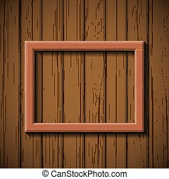 wooden picture frame hanging on the wall