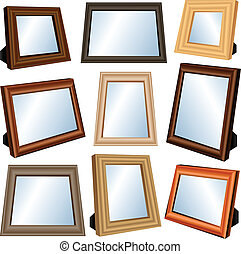 Picture frame set - Wooden Picture frame set in different...