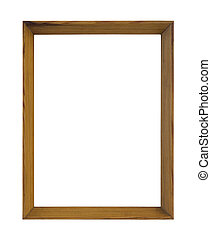 Wooden picture frame with clipping