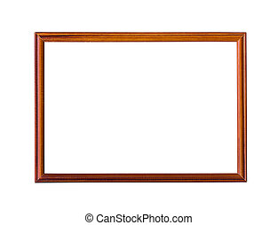 Wooden picture frame. - Wooden picture frame isolated on...