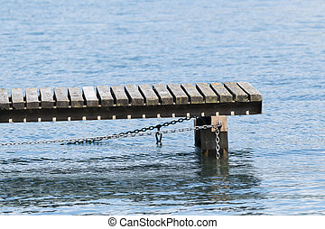 wooden pier at lake