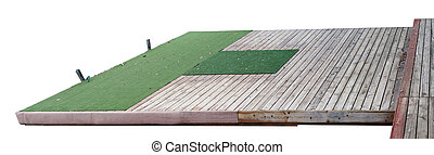 Wooden pier for boats