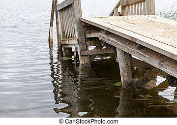 wooden pier from the planks