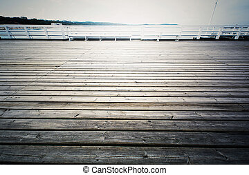 Wooden pier in Sopot, Poland.