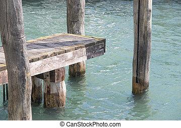 wooden pier in Venice