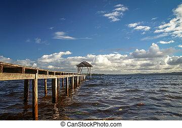 Wooden pier into the sea