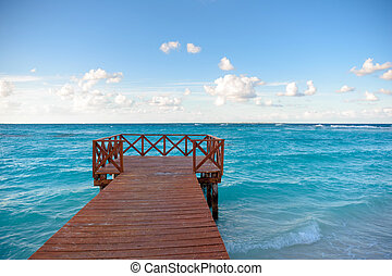 Wooden pier on the shore