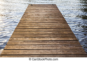 wooden pier on water