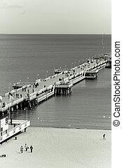 wooden pier in Sopot, Poland