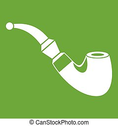 Wooden pipe icon green