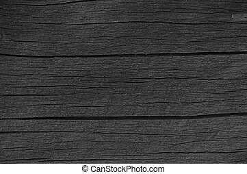 Wooden Plank Board Black Wood Tar Paint Texture Detail Large Old Aged Dark Detailed Cracked Timber Rustic Macro Closeup Pattern Blank Empty Horizontal