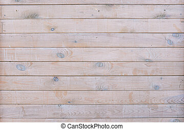 Wooden plank fence of horizontal flat boards. Wood brown texture. Empty wooden wall. Template for design