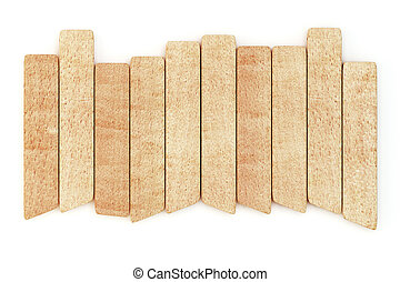 Wooden planks isolated on white background