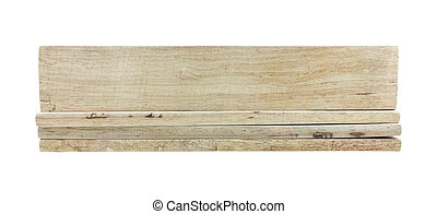 wooden planks isolated on white background.
