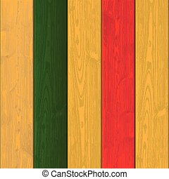 Wooden Planks Mexican Colors - Woode background with mexican...