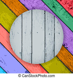 wooden planks on the Colorful Vector Wooden Background