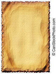 Wooden plate - ancient paper