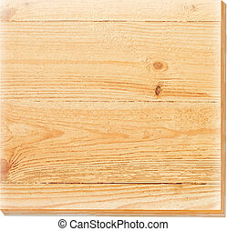 Wooden plate on a concrete background.